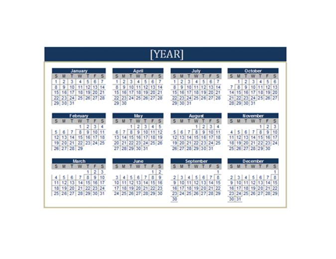Calendario con barra de desplazamiento