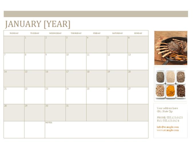 Calendario de fotos