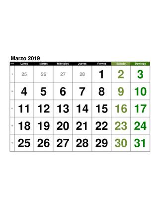 Calendario 2018 En Mexico