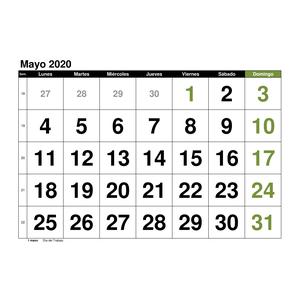calendario mayo 2020