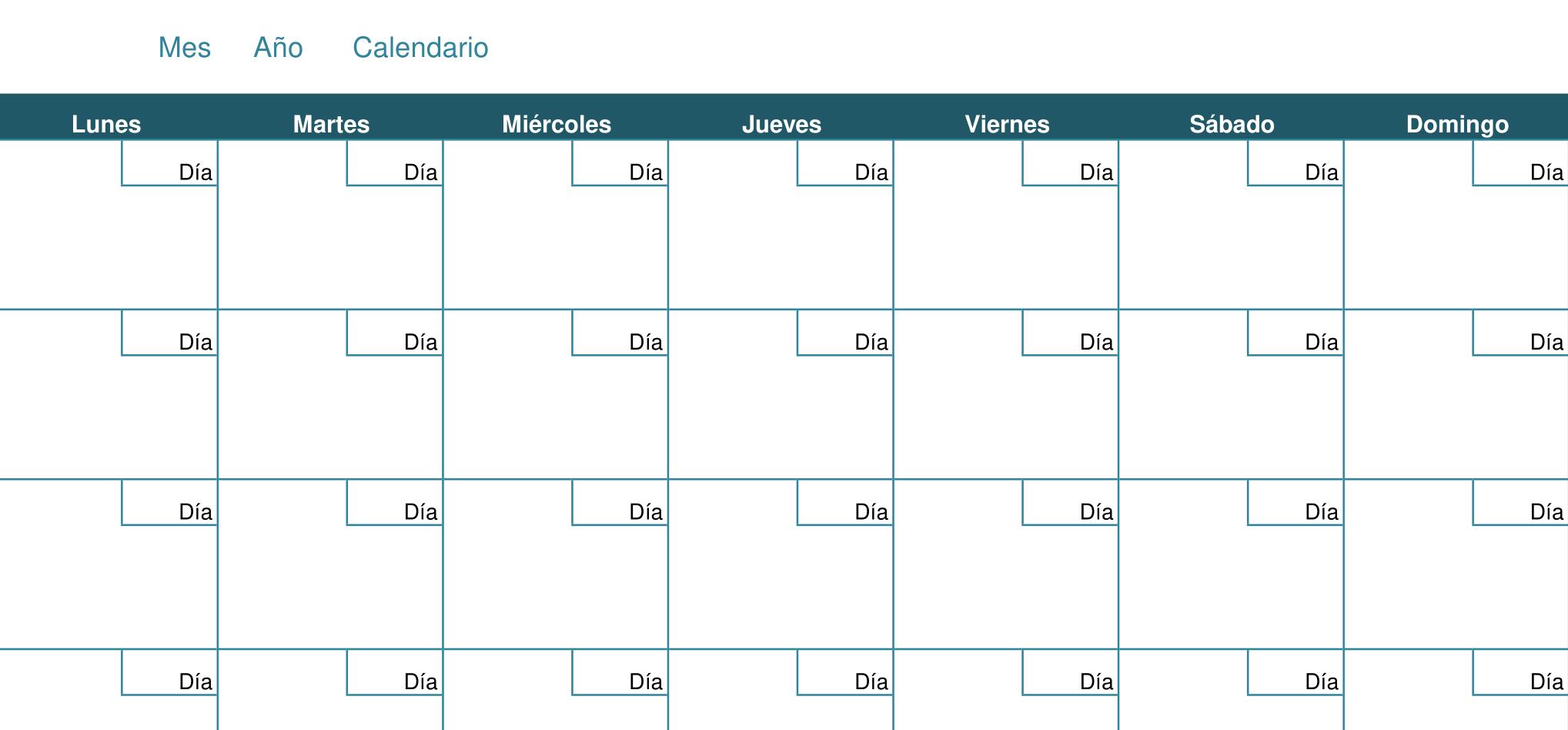 calendario ordenado por meses