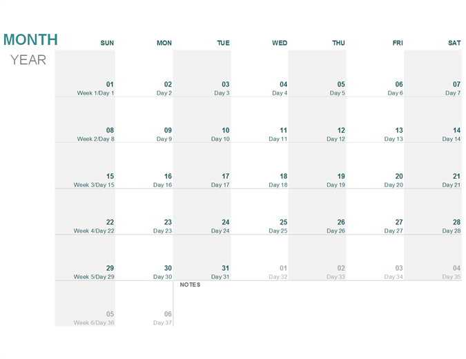 Calendario Juliano (cualquier año)