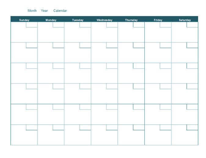 Calendario mensual personalizado