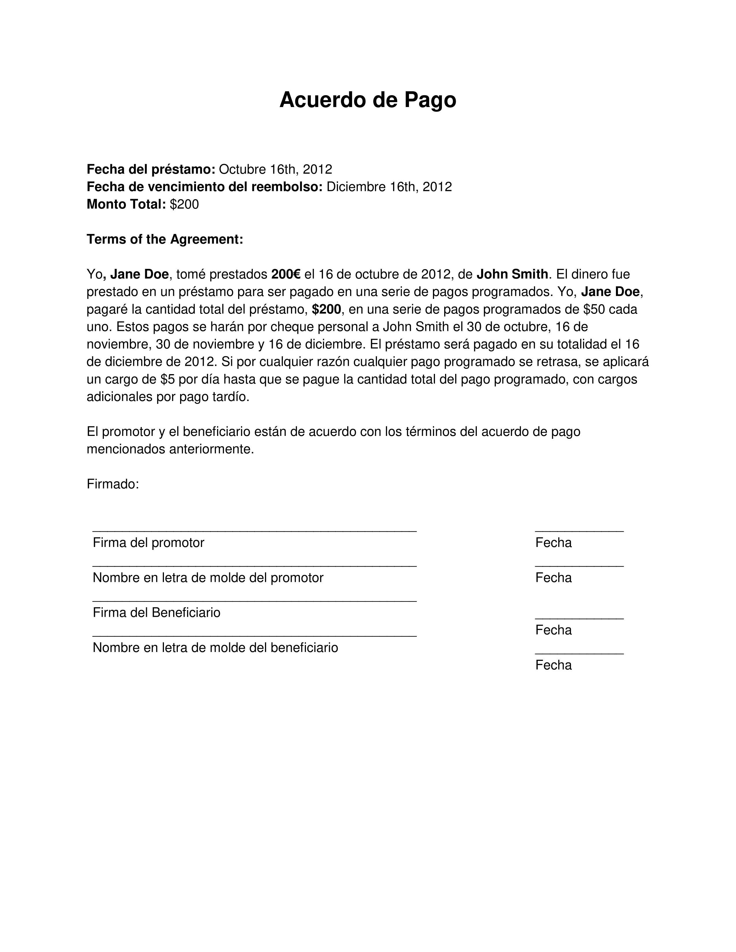 plantillas formato pagar u00e9