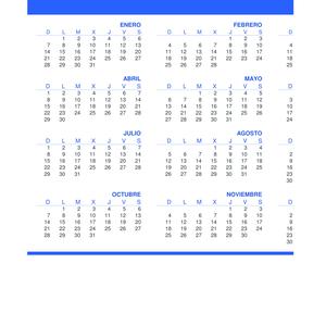 Calendario Con Excel.Plantillas De Calendarios Gratis Plantillas Excel Com