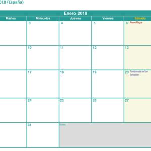 Calendario Para Escribir.Plantillas De Calendarios Gratis Plantillas Excel Com