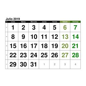 Mes De Julio Calendario.Plantillas De Calendarios Gratis Plantillas Excel Com