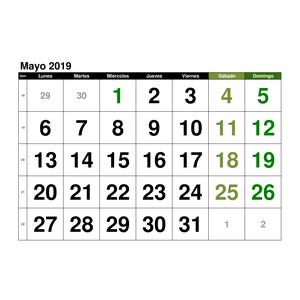 Calendario Julio 2019 Para Imprimir.Plantillas De Calendarios Gratis Plantillas Excel Com