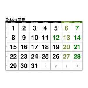 Calendario Mes De Octubre 2020 Para Imprimir.Plantillas De Calendarios Gratis Plantillas Excel Com