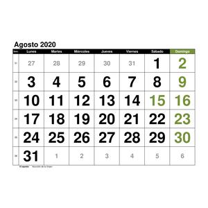 Marzo 2020 Calendario Argentina.Plantillas De Calendarios Gratis Plantillas Excel Com