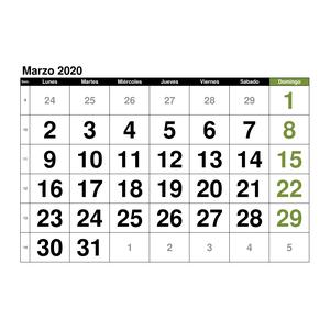 Calendario 2020 Marzo Abril.Plantillas De Calendarios Gratis Plantillas Excel Com