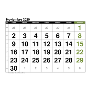 Calendario Noviembre 2019.Plantillas De Calendarios Gratis Plantillas Excel Com